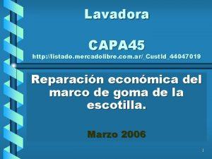 Lavadora CAPA 45 http listado mercadolibre com arCust