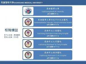 KAOHSIUNG MEDICAL UNIVERSITY Kaohsiung Medical University KMU Kaohsiung