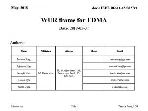 May 2018 doc IEEE 802 11 180827 r