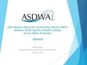 USDA Natural Resources Conservation Service NRCS National Water