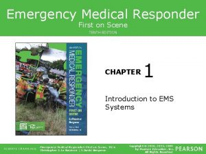 Emergency Medical Responder First on Scene TENTH EDITION
