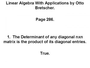 Linear Algebra With Applications by Otto Bretscher Page