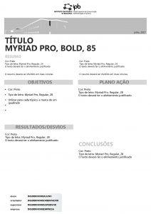 julho 2017 TTULO MYRIAD PRO BOLD 85 RESUMO