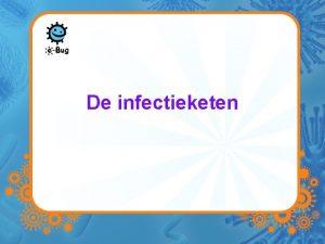 De infectieketen De infectieketen Bron van infectie Een