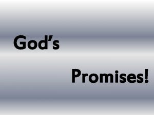 Gods Promises WE HAS SEEN THE ENEMYAND THEY