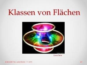Klassen von Flchen CostaFlche Benedikt Trk Lukas Bcker