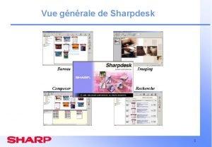 Vue gnrale de Sharpdesk Bureau Composer Imaging Recherche