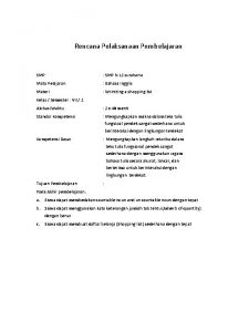 Rencana Pelaksanaan Pembelajaran SMP SMP N 12 surakarta