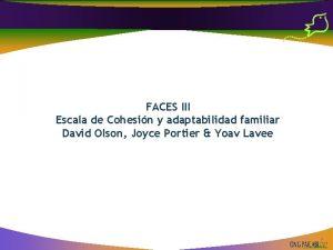 FACES III Escala de Cohesin y adaptabilidad familiar