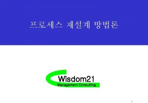 Wisdom 21 Management Consulting 1 BPR STEP 1