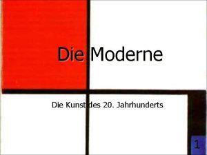 Die Moderne Die Kunst des 20 Jahrhunderts 1