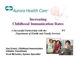Increasing Childhood Immunization Rates A Successful Partnership with