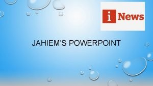 JAHIEMS POWERPOINT FRONT COVER In the front cover