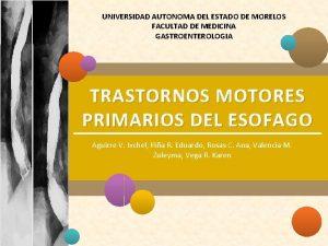 UNIVERSIDAD AUTONOMA DEL ESTADO DE MORELOS FACULTAD DE
