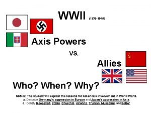 WWII 1939 1945 Axis Powers VS Allies Who