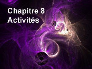 Chapitre 8 Activits La radioactivit Isotopie Activit 1