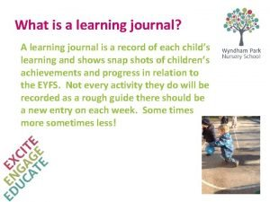 What is a learning journal A learning journal