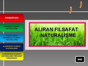PENGERTIAN SEJARAH FILSAFAT NATURALISME TOKOH YANG MENGANUT FILSAFAT