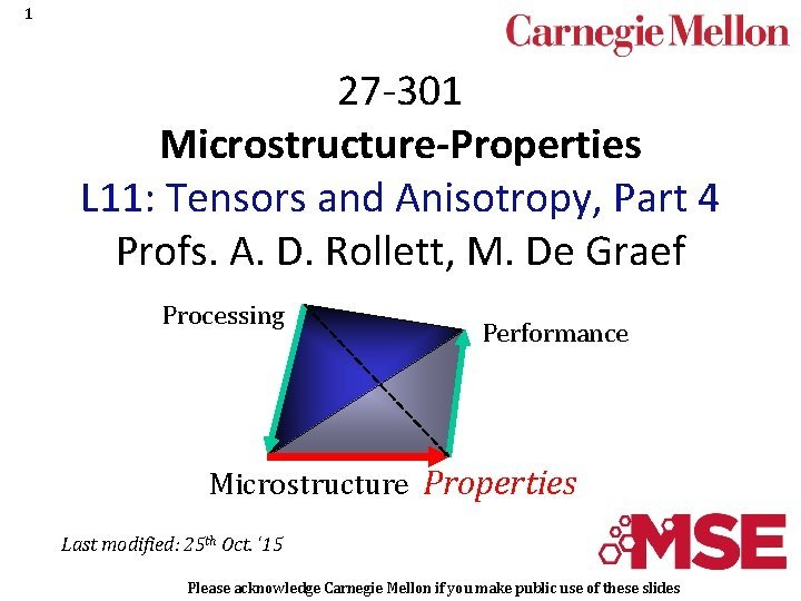 1 27 301 MicrostructureProperties L 11 Tensors and