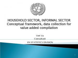 HOUSEHOLD SECTOR i NFORMAL SECTOR Conceptual framework data