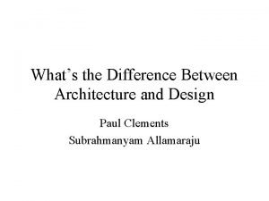 Whats the Difference Between Architecture and Design Paul