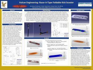 Vulcan Engineering Razor AType Foldable Kick Scooter Ambrose