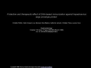 Protective and therapeutic effect of DNAbased immunization against