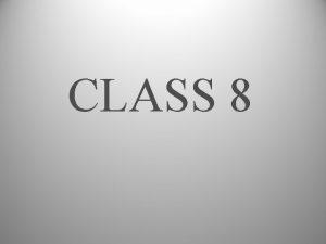 CLASS 8 HUMANISTIC PSYCHOLOGY KEY IDEAS 1 Positive
