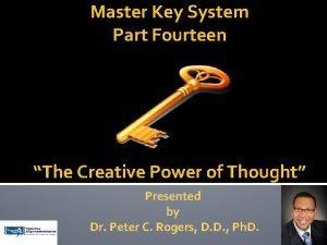 Master Key System Part Fourteen The Creative Power