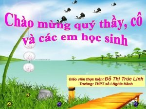 Gio vin thc hin Th Trc Linh Trng