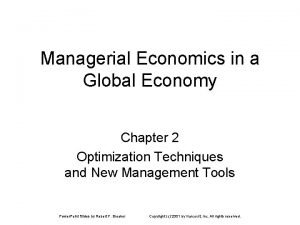 Managerial Economics in a Global Economy Chapter 2