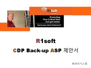 R 1 soft CDP Backup ASP R 1