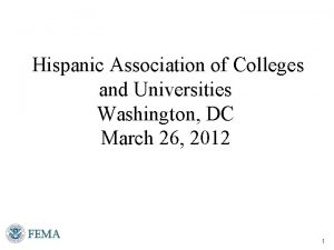 Hispanic Association of Colleges and Universities Washington DC