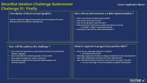 Smart Sat Ideation Challenge Submission Challenge 01 Firefly