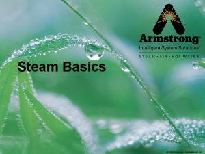 Steam Basics 2008 Armstrong International Inc Steam Basics