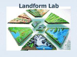 Landform Lab Constructive and Destructive Processes n Constructive