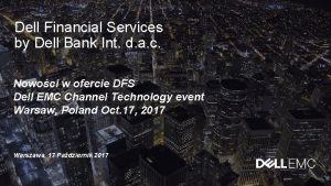 Dell Financial Services by Dell Bank Int d