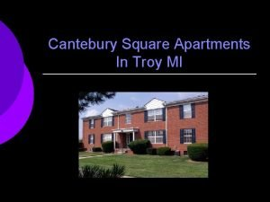 Cantebury Square Apartments In Troy MI Cantebury Square