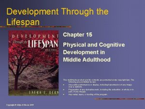 Development Through the Lifespan Chapter 15 Physical and