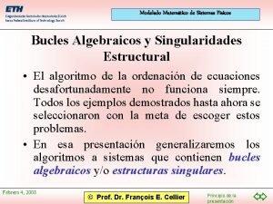Modelado Matemtico de Sistemas Fsicos Bucles Algebraicos y