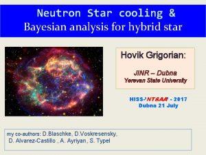 Neutron Star cooling Bayesian analysis for hybrid star