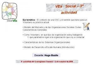 VEs Social 3 actividad Eje temtico El contexto