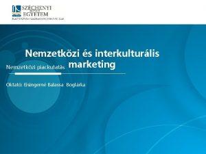 Nemzetkzi s interkulturlis Nemzetkzi piackutats marketing Oktat Eisingern