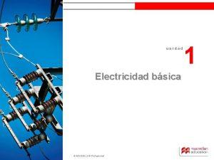 unidad 1 unidad Electricidad bsica MACMILLAN Profesional 1