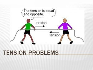 TENSION PROBLEMS HOW TO SOLVE TENSION PROBLEMS Follow