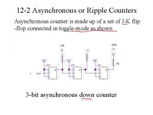 12 2 Asynchronous or Ripple Counters Asynchronous counter