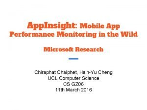 App Insight Mobile App Performance Monitoring in the