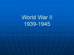 World War II 1939 1945 Adolf Hitler begins