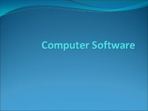 Computer Software System and application software interface between