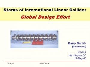Status of International Linear Collider Global Design Effort